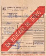 Antico Biglietto Ferrovie Dello Stato Da S.lorenzo Colli A Messina - 1975 - Europa