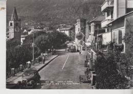 St. Vincent Aosta Via Ponte Romano Bus Pullman Distributore Benzina Shell 1957 - Aosta