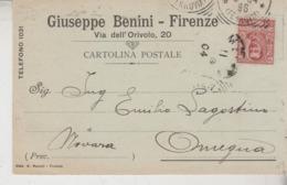 Storia Postale 1904 Firenze Per Lagostina Omegna  Novara - 1900-44 Vittorio Emanuele III
