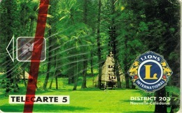 Nouvelle Caledonie Telecarte Phonecard NC14 Lions Club Case Kanak Sarramea 5 Unites NSB Neuve Non Numérotée - Neukaledonien