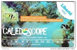 Nouvelle Caledonie Telecarte Phonecard Liberte Prepaid Pre Payee Publique Caledoscope Aquarium Poisson Lagon  Ex 2016 TB - Neukaledonien