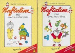 NAFTALINE - Collection  ROUGE Et OR  - 2 Livres -  Avec 50 Gommettes Par Livre - Domitille De Pressensé - Books, Magazines, Comics