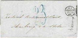 1867, Preußen-Transit-Stp. , Feuser € 400.- ,  A2448 - Preussen