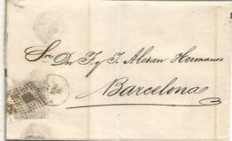ENVUELTA DE LUTO VERA ALMERIA ?  A BARCELONA 1872 - 1872-73 Reino: Amadeo I