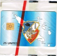 Nouvelle Caledonie Telecarte Phonecard Prive Sous Officier Reserve ASOR Armee Non Numerotee Noir NC18A Cote 50 Neuve TB - Nouvelle-Calédonie