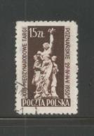 POLAND 1950 POZNAN 23rd INTERNATIONAL TRADE FAIR USED Sculpture Art - 1944-.... Republik