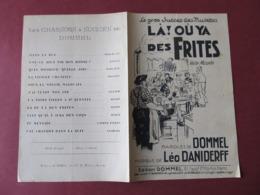 PARTITION - Là ! Où Ya Des FRITES - VALSE MUSETTE - DOMMEL / LEO DANIDERFF. - Music & Instruments
