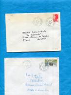 MARCOPHILIE- 2 Lettres - Cad 1984 Ile Du Levant GA+ 1990 ILE De PORT CROS - Storia Postale
