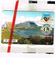Nouvelle Caledonie Telecarte Phonecard Prive NC29 Mont Dore Kions Club Blason Paysage Côte 60 Euro TB - Neukaledonien