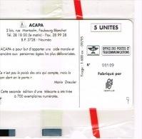 Nouvelle Caledonie Telecarte Phonecard Prive  ACAPA Association Personnes Agee Marcel Berger Carte Cote 80 Euro NC33 TB - Nouvelle-Calédonie