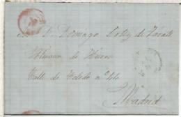 ENVUELTA A MADRID DIVERSOS MATASELLOS - 1870-72 Regencia