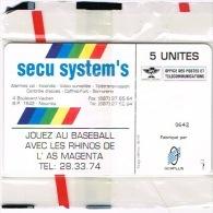 Nouvelle Caledonie Telecarte Phonecard Prive Rhino Base Ball Cote 80 Euro NC31 Sport  TB - Neukaledonien