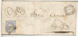 ENVUELTA A BARCELONA 1871 DIVERSOS MATASELLOS LERIDA BARCELONA - 1870-72 Regencia