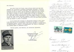 PRIMAULT ET. COMMANDANT TROUPES D'AVIATION AUTOGRAPHE ORIGINAL AUTOGRAPH SUISSE AVIATION /FREE SHIPPING REGISTERED - Autogramme & Autographen