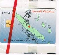 Nouvelle Caledonie Telecarte Phonecard Prive  Croix Rouge Cagou Carte Cote 70 Euro NC34A TB - Nouvelle-Calédonie