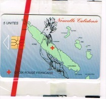 Nouvelle Caledonie Telecarte Phonecard Prive  Croix Rouge Cagou Carte Cote 70 Euro NC34A TB - Neukaledonien
