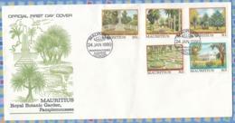 Mauritius - 1980 - Royal Botanic Garden Pamplemousses - Mauricio (1968-...)