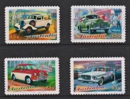 Australia 1997 Classic Cars Set Of 4 Self-adhesives Used - 1990-99 Elizabeth II
