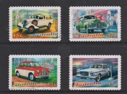 Australia 1997 Classic Cars Set Of 4 Self-adhesives Used - - 1990-99 Elizabeth II