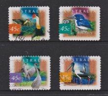 Australia 1997 Wetland Birds Set Of 4 Self-adhesives Used - 1990-99 Elizabeth II
