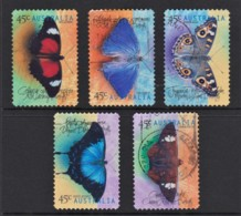 Australia 1998 Butterflies Set Of 5 Self-adhesives Used - 1990-99 Elizabeth II