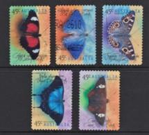 Australia 1998 Butterflies Set Of 5 Self-adhesives Used - - 1990-99 Elizabeth II