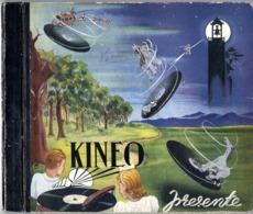 KINEO PRESENTE COLETTE NAST & MARGUERITE GISCLON  COFFRET 4 DISQUES VERS 1925  RARE  -  78 TOURS  -  POUR ENFANTS - Spezialformate