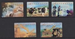 Australia 1998 Farming Set Of 5 Self-adhesives Used - - 1990-99 Elizabeth II