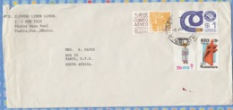 Mexico On Cover To South Africa - 1979 (1980) - Air Mail Electronic Conductors Colonial Tuberculosis TB Label Cinderella - Mexico