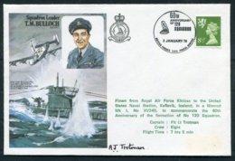 1978 GB RAF Covers (2) Kinloss - Keflavik Iceland 120 Squardon. Pilot Signed (1) Liberator Sinking U-Boat BFPS 1590 - 1952-.... (Elizabeth II)