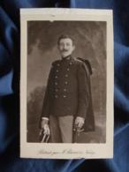 Photo CDV J. Barco à Nancy - Militaire, Sous Lieuteunant Chasseur à Pied (André Boullay) Circa 1910 L466A - Guerre, Militaire
