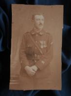Photo CDV Mignot à Macon - Militaire Lieuteunant 9e Chasseur à Pied (André Boullay) Médaillés Circa 1915-20 L466A - War, Military