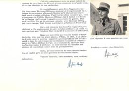 COLONEL EDGARD PRIMAULT AUTOGRAPHE ORIGINAL AUTOGRAPH SUISSE AVIATION DONT HERMANN GORING /FREE SHIPPING REGISTERED - Autogramme & Autographen