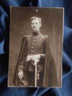 Photo Format CDV Anonyme - Militaire Sous Lieuteunant 122e D'infanterie (Marcel Boullay) Circa 1910 L466A - Guerre, Militaire