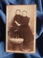 Photo CDV  Carbasse à Béziers  Fillette Tenant Un Jeune Enfant Debout Sur Une Chaise  CA 1890 - L467 - Old (before 1900)