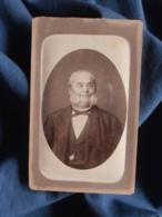 Photo CDV  Leroux Vichy, Cannes, Toulon  Portrait Homme âgé Souriant  Gros Favoris  CA 1880 - L467 - Photos