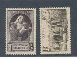FRANCE - N°YT 465/66 NEUFS** SANS CHARNIERE - COTE YT : 6€50 - 1940 - France