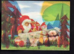 REF 430 : CPSM Santa Claus Père Noël Carte En 3D Visiomatic Schneewittchen - Santa Claus