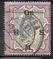 APR1000 - INDIA 1902, Servizio Yvert  N. 48  Usato  (2380A). Spst On H.M.S. - 1902-11 King Edward VII