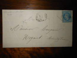 Lettre GC 917 Chateau Du Loir Sarthe Avec Correspondance - 1849-1876: Période Classique