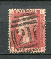 Great Britain Nr.16 Platte:124     (D-B)      O  Used      (1150) - 1840-1901 (Regina Victoria)