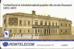 ROMANIA - Important Buildings In Communications History: Focsani PTT - 4.000EX - Romania