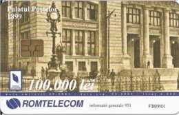 ROMANIA - Important Buildings In Communications History: Post Palace - 4.000EX - Romania