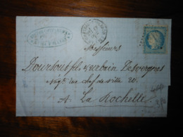 Lettre GC 916 Chateau D'Oleron Charente Avec Correspondance - 1849-1876: Période Classique
