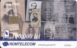 ROMANIA -  Important Characters In Communication History: 1864-1900 - 4.000EX - Romania