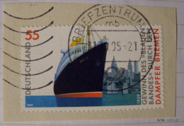 GERMANY 2004. Bremen. 1929 Winner Of Blue Ribbon (Europe To America Speed Record). SG3282. Used. - [7] West-Duitsland