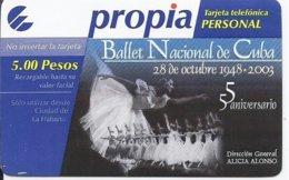 CUBA - PROPIA RECHARGE - USED - BALLET - Cuba