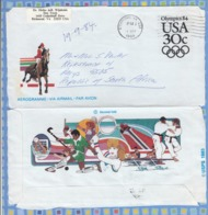 United States Of America USA On Cover To South Africa - 1984 -  Aerogramme Olympics 84 - Etats-Unis