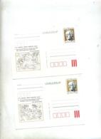 Carte Postal 1 Goethe Legere Difference De Couleure - Enteros Postales