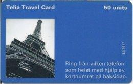 SWEDEN - TELIA TRAVEL CARD - EIFFEL TOUR - 8.000EX - Svezia